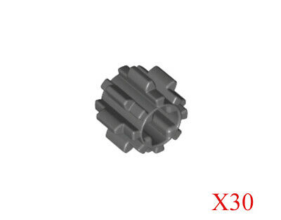 New LEGO Lot of 2 Dark Bluish Gray 8 Tooth Technic Gear Pieces