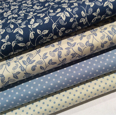 100/% Cotton Poplin Fabric Fat Quarter Bundle x 4 Fabrics
