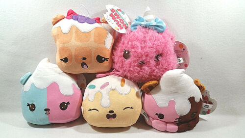 Num Noms Lot of 5 Ice Cream Waffle Ear Plush Toy Strawberry Vanilla Cute Kawaii