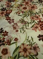 """Pretty Flower Floral JERSEY LYCRA Stretch Fabric Material 60""""Width Sandy Maroon"""