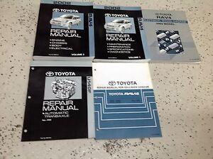2002 toyota rav4 rav 4 service shop repair manual set oem w ewd rh ebay com 2002 rav4 owners manual 2002 toyota rav4 service manual pdf