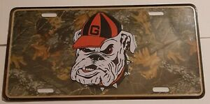 Georgia-Bulldogs-Metal-camo-License-Plate-Tag