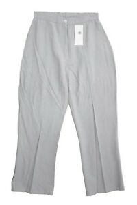 Ladies-new-Size-6-8-10-Silver-Grey-Lightweight-Trouser-Fitted-Waist-25-Inch-Leg
