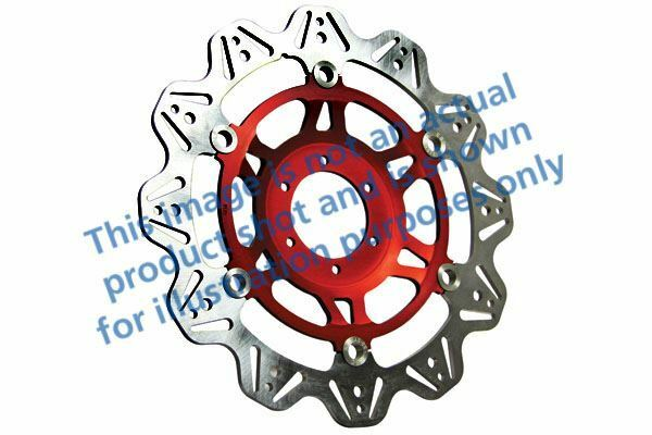 FIT DUCATI S4RS (Tricolore/Monster Test 08 EBC VR Brake Disc Red Hub Front Left