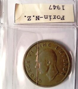 Details about New Zealand NZ Pre-decimal KING GEORGE VI - ONE FLORIN 1948  COIN - KGVI