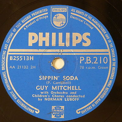 78 record in frame SIPPIN SODA / CLOUD LUCKY SEVEN guy mitchell