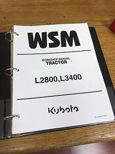 kubota l2800 l3400 l3700su tractor workshop service repair manual rh ebay com Kubota L45 kubota l39 operators manual