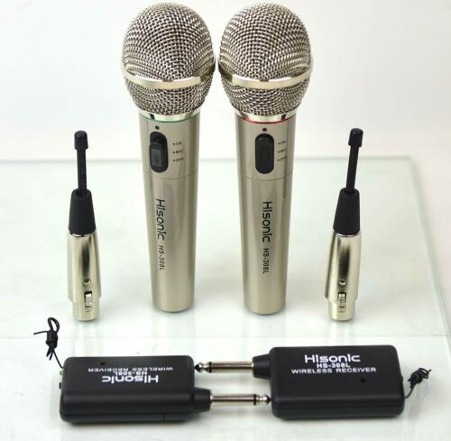 Hisonic Wireless Hand Held Microphone High Quality Singing Musical Microphones