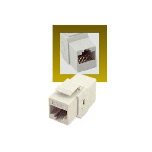 RJ45 Cat5e Female to Female Coupler UTP Ethernet Keystone Jack White