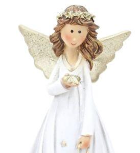 Traumhafter-Engel-Schutzengel-weiss-gold-Polyresin-mit-Stern
