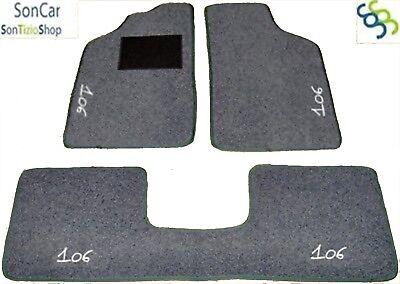 4 decori PEUGEOT 106 TAPPETI tappetini AUTO 4 block