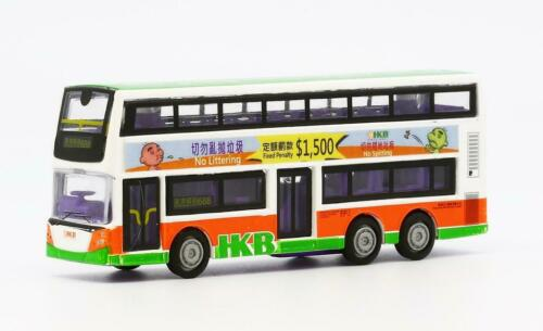 Carven Hong Kong Bus Toys car Diecast 12cm length pull back 2