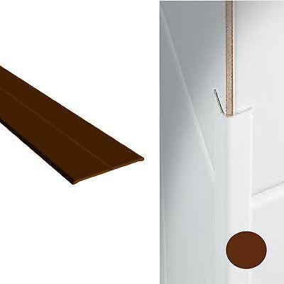 Cream Brown UPVC Plastic Flexi Flexible Angle Cover trim x 2.5 Metres White