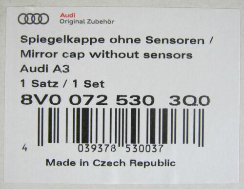 Nuevo Genuino Audi A3 RS3 8 V Accesorio De Fibra De Carbono Puerta Ala espejo cubre conjunto