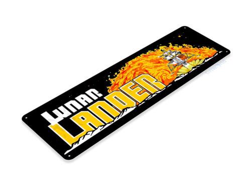 GLACOIDE LUNAR LANDER Arcade shop salle de jeux MARQUEE console métal décor A481