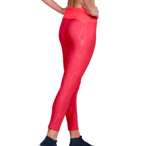 Under Armour Ua Heatgear Vanish imprimé rose femme Crop Sports Running Leggings