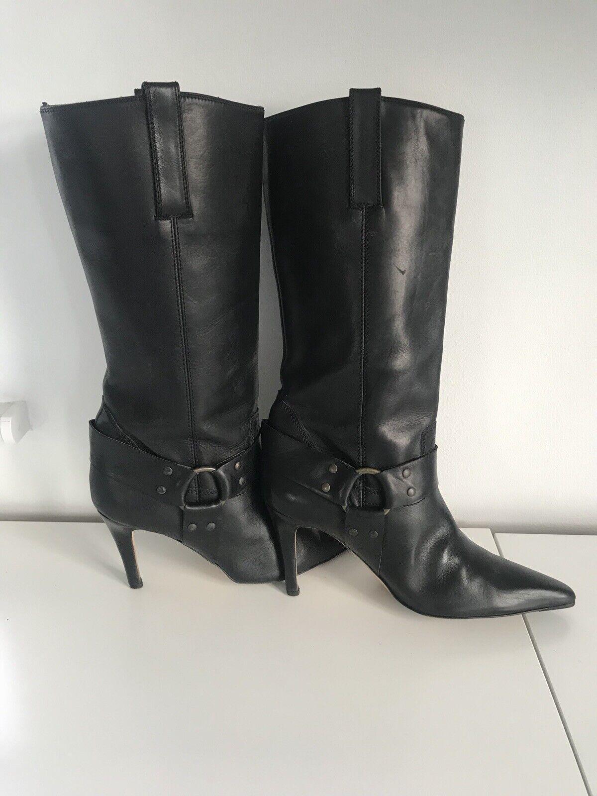 MANOLO BLAHNIK cuir noir à talon Pointure 39.5 39.5 39.5 0bd620