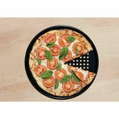 Rund Pizza Pan Wärmeabsorption Schwarz Hochtemperaturbeständig Antihaft Party DE