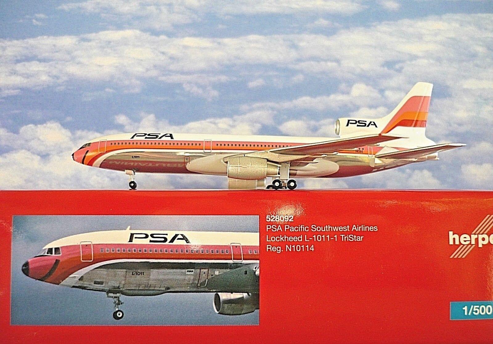 Herpa Herpa Herpa Wings 1 500 Lockheed l-1011 -1 tristar psa n10114 528092 modellairport 500 a7af46