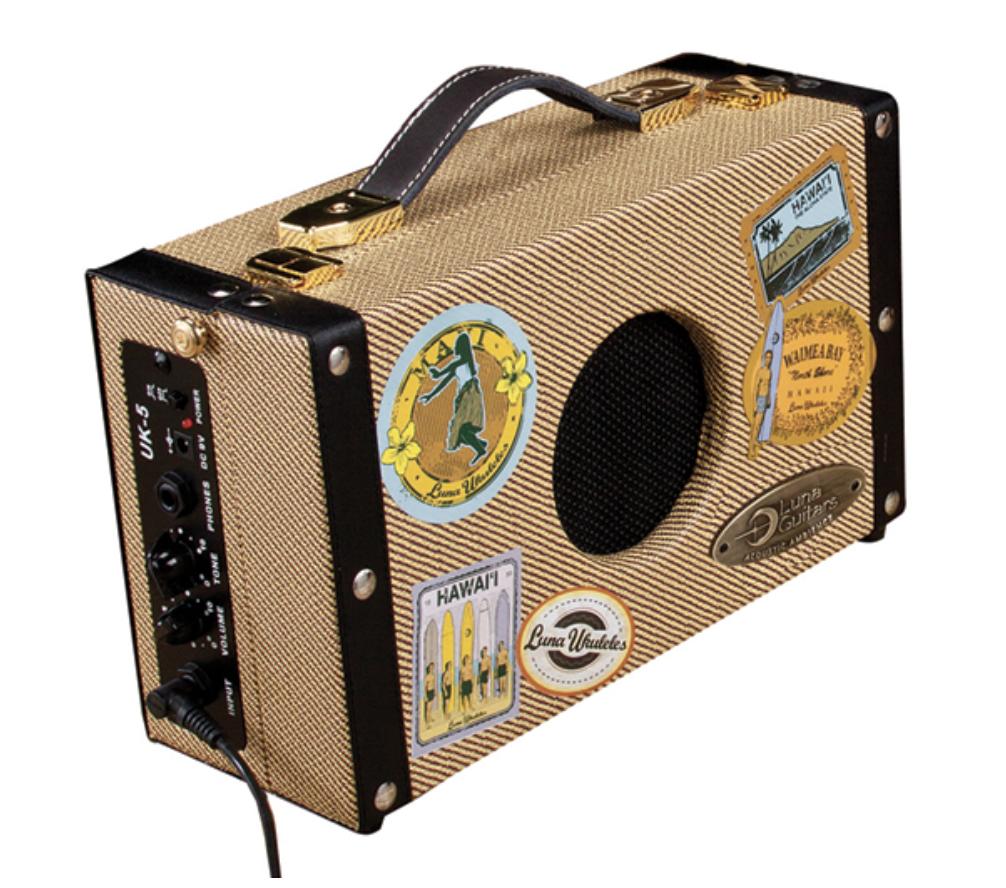 Luna Ukulele Ukulele Suitcase 5 Watt Amp UKE SA 5