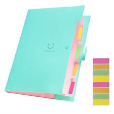Plastic A4 Letter Size Accordion Document Organizer And 8pcs File Folder Labels