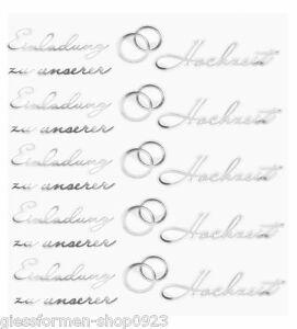 Das Bild Wird Geladen Hobby Design Sticker Einladung Hochzeit  Silber 3452418 NEU