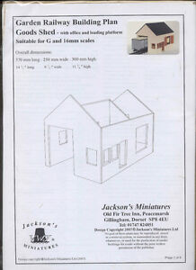 Train Goods Shed Plan Pack  - G (1/24) Scale Garden railroad  building W01