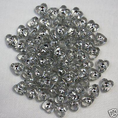 100 Kunststoff Fädelperlen 6mm Strass-Effekt-Perlen Glitzerperlen Strass Perlen