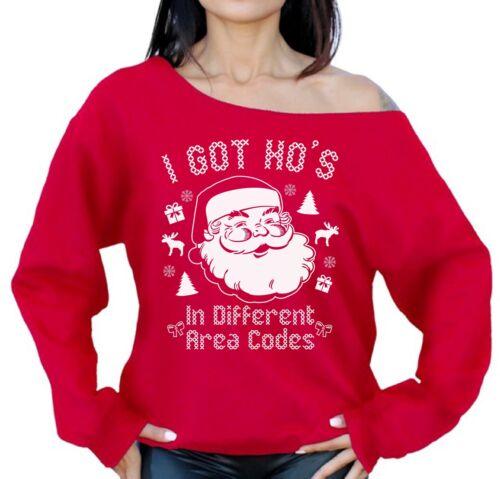 Ho J'ai de Pull codes à zone obtenu Noël Sweat épaules dans différents dénudées de JulFKcT13