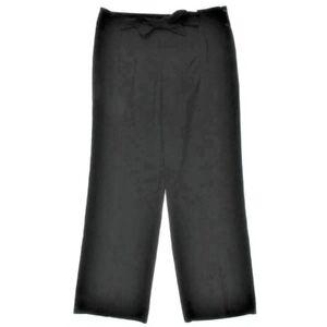 153b1b8b9667 ALFANI  89 BLACK TIE WAIST Wide-Leg STRETCH Dress PANTS TROUSERS SZ ...