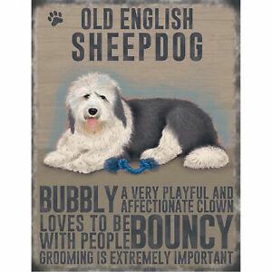 ENGLISH SETTER dog personality metal wall sign