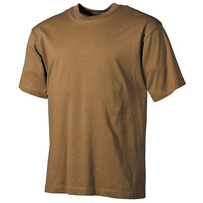 ARMY T-SHIRT Kurzarm Shirt COYOTE SAND S-3XL Baumwollshirt Armeeshirt  Unishirt