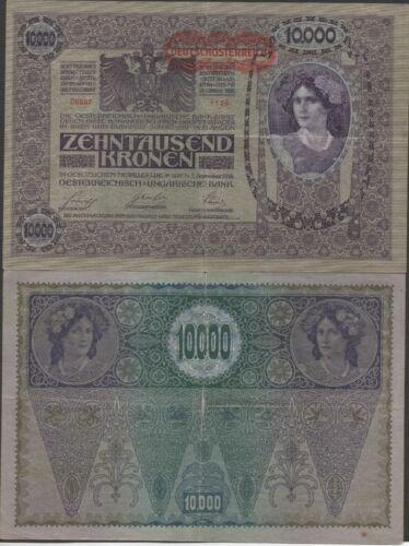 Austria 10,000 Kronen 2.11.1918 / 1919 P 65 Circulated Banknote