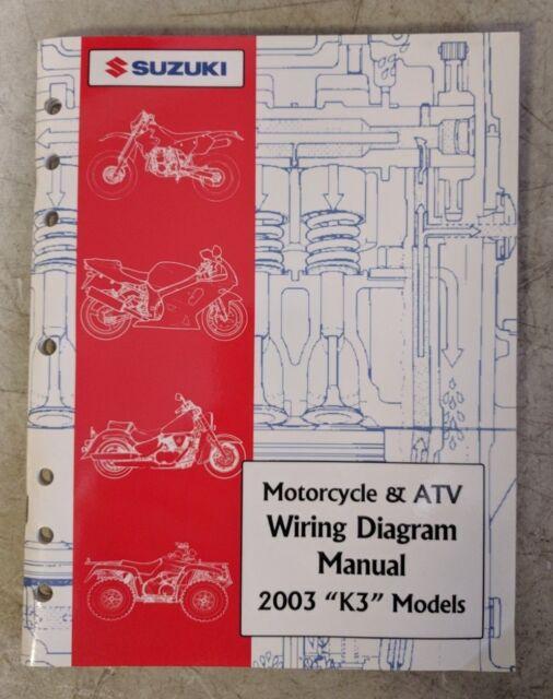 2003 Suzuki Motorcycle  U0026 Atv Wiring Diagram Manual  U0026quot K3 U0026quot  Models 99923