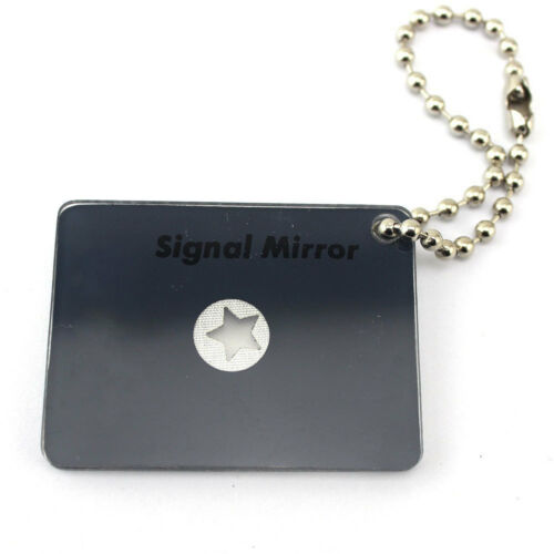 Outdoor Micro Star Signal Mirror Survival Emergency Rescue Signaling Device HK