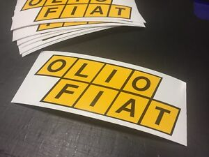 Details About Olio Fiat Vintage Decal Sticker Abarth Bmw Classic Retro Race Vw Rally