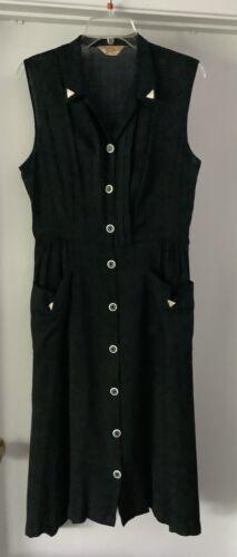 Vintage Penney's Brentwood Frocks 40's Black Dress