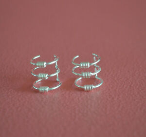 925-Sterling-Silver-Tripple-Wire-Ear-Cuffs-Earrings-Wire-Ear-Cuff-No-Piercing