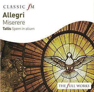 Allegri-Miserere-Tallis-Spem-in-Alium-New-CD-UK-Import