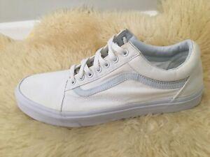 vans 500714 white canvas casual shoes mens size 12 van