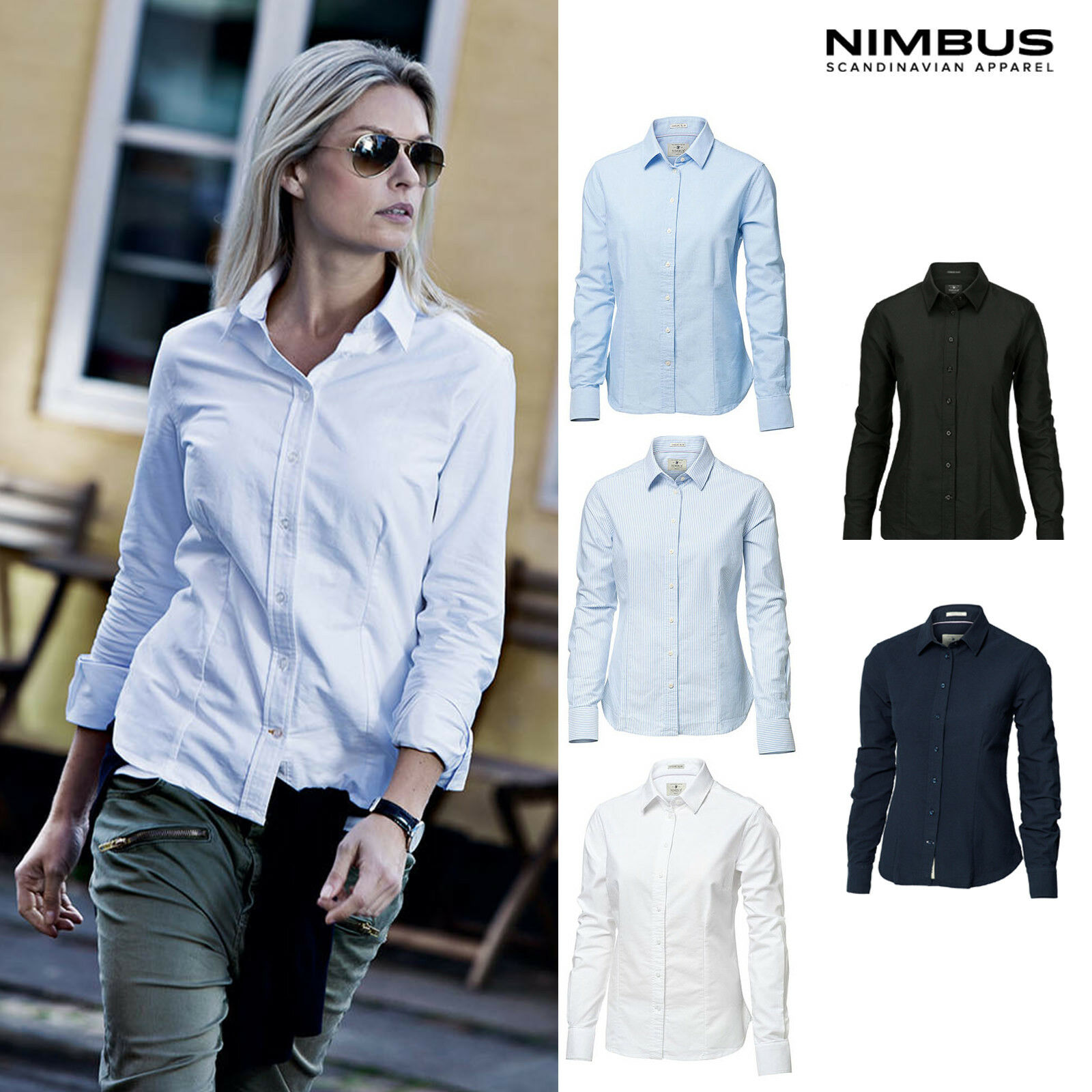 Nimbus Woherren Rochester Oxford Shirt NB45F