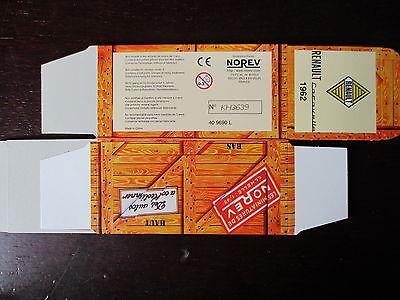BOITE VIDE NOREV  CITROEN 2CV CITRONETA 1962 EMPTY BOX CAJA VACCIA