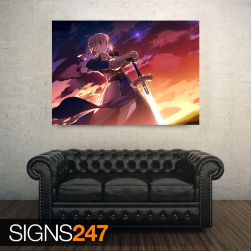 3165 Destino estancia noche saber Todos los Tamaños Cartel De Anime-foto arte cartel impresión