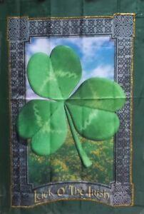 Luck-of-the-Irish-Celtic-Standard-House-Flag-by-NCE-66048-Gold-stitching-St