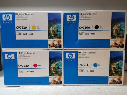OEM Box NEW GENUINE HP C9720A C9721A C9722A C9723A Set Color Toner 4600 Sealed