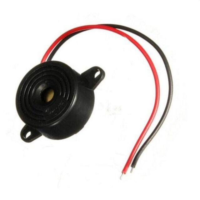 Hole Continuous Tone Sound + Mounting 95DB 12V Buzzer Piezo Electronic Alarm