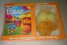 Lorax limited gift set NEW Blu-ray 2-Disc DVD combo pack plush toy Dr. Seuss