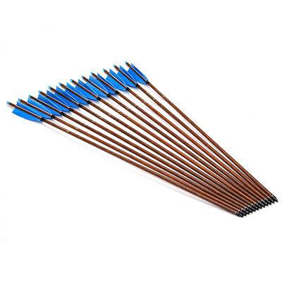 "Adroit 12x 31""carbon Arrows Feather Compound Recurve Bow Hunting Target Spine 500 Arrows & Parts Complete Arrows"