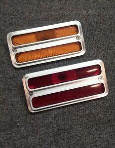67 72 Chevy C10 Truck Billet Side Marker Light Covers