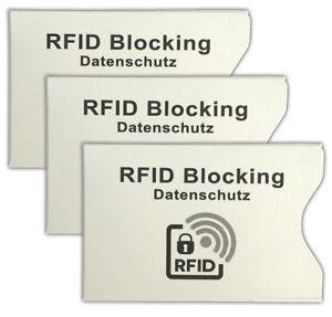 Ausweishüllen Mutig 3er Set Rfid Schutzhülle Kreditkarte Ec-karte Hülle Personalausweis Kartenhülle Ungleiche Leistung